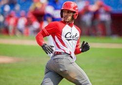 Victor Victor Mesa runs the bases for Team Cuba